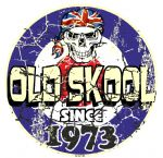 Distressed Aged OLD SKOOL SINCE 1973 Mod Target Dated Design Vinyl Car sticker decal  80x80mm